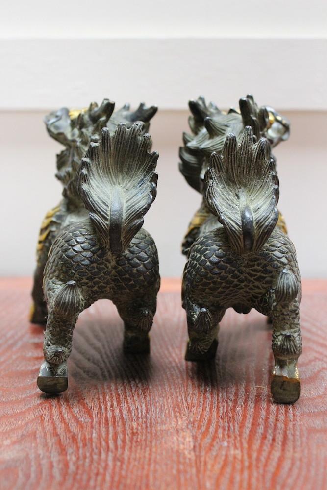 Chinesische Fu Hunde Bronze Fu Dogs China Tempelw 228 Chter