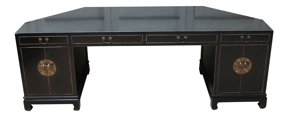 schreibtisch restauriert ulmenholz sekret r holz schwarz asien m bel china ebay. Black Bedroom Furniture Sets. Home Design Ideas
