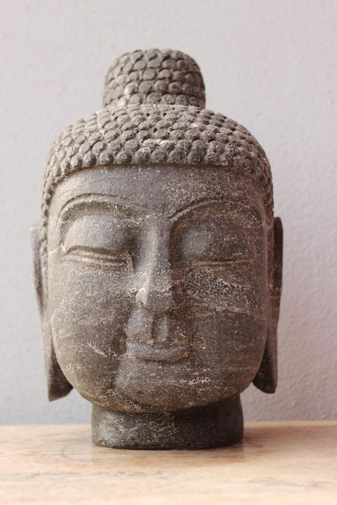 original buddha kopf f r garten stein buddha china buddha figur kaufen tibet ebay. Black Bedroom Furniture Sets. Home Design Ideas