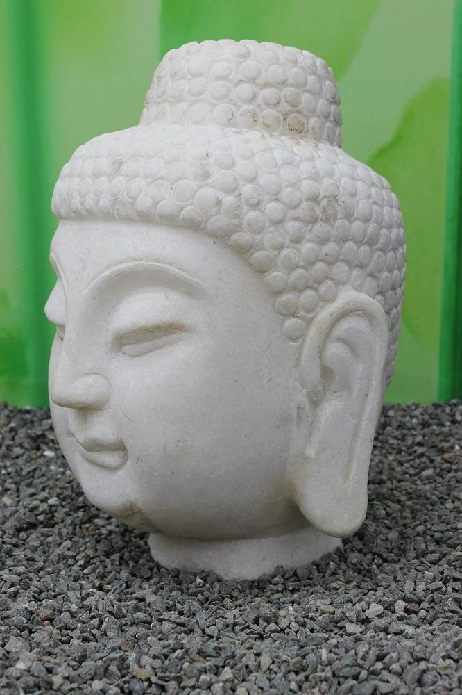 Marmo bianco pietra buddha testa giardino buddah cina - Buddha fur garten ...