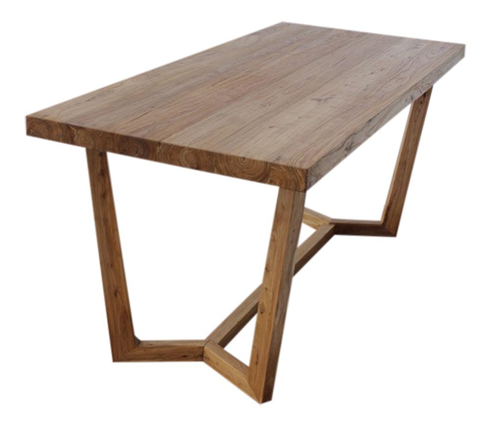 ulmen holz tisch massiv modernes design 2 teilig esstisch wohnzimmer tisch neu ebay. Black Bedroom Furniture Sets. Home Design Ideas