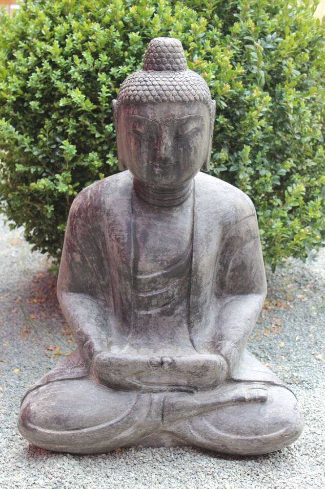 buddha figur steinfigur f r den garten japan garten buddha. Black Bedroom Furniture Sets. Home Design Ideas