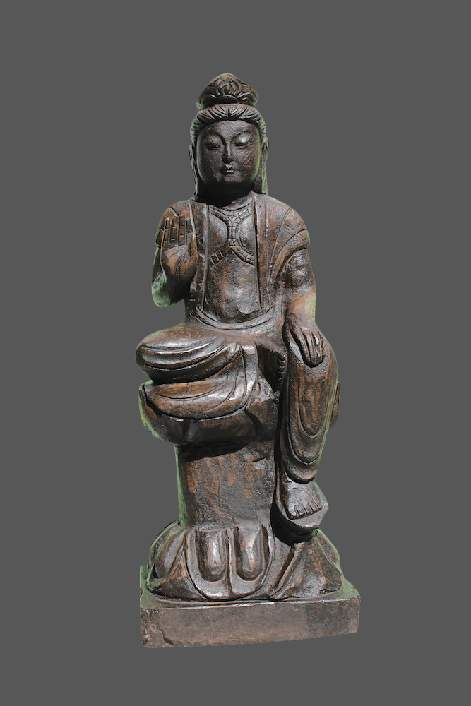 sitzende buddha figur chinesische steinfiguren japangarten japanischer garten ebay. Black Bedroom Furniture Sets. Home Design Ideas