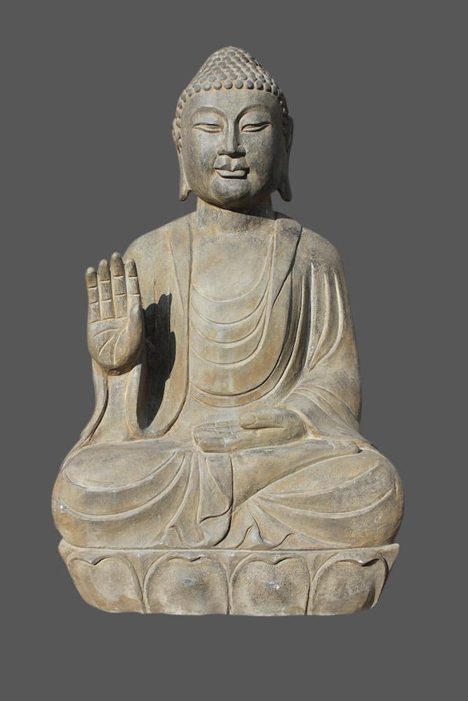 Buddha figur garten buddha stein naturstein tibet china for Buddha figur