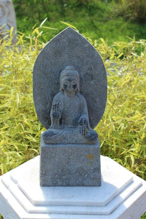 tempel buddha granit naturstein tibet china garten teich japan figur skulptur ebay. Black Bedroom Furniture Sets. Home Design Ideas